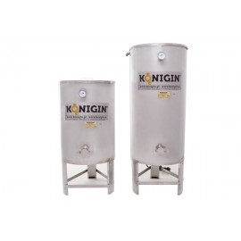 Heated Honey tank 500 l  - integrated stand, double jacket